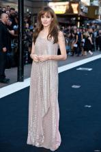Angelina Jolie wearing Amanda Wakeley