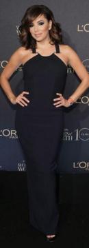 Eva Longoria wearing Amanda Wakeley