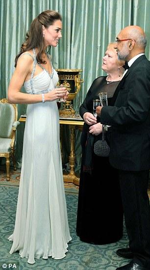 Kate Middleton wearing Amanda Wakeley