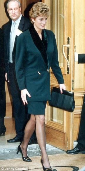 Princess Diana wearing Amanda Wakeley
